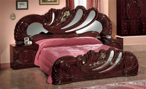 mahogany bedroom furniture sets vig modrest vanity mahogany italian classic bedroom set