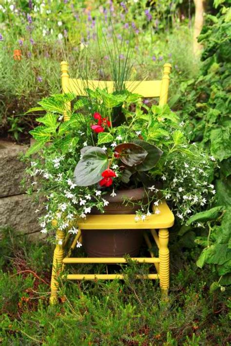 Planting The Chic In Cheap by Gardening Diy Turn A Thrift Store Chair Into A