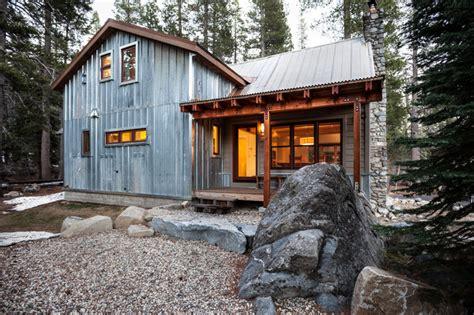 rustic barn homes snow county cabin remodel addition contemporary