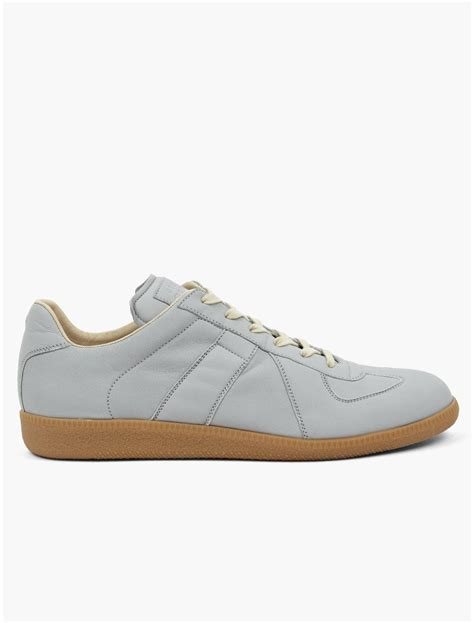 maison martin margiela mens sneakers maison martin margiela 22 mens grey replica sneakers in