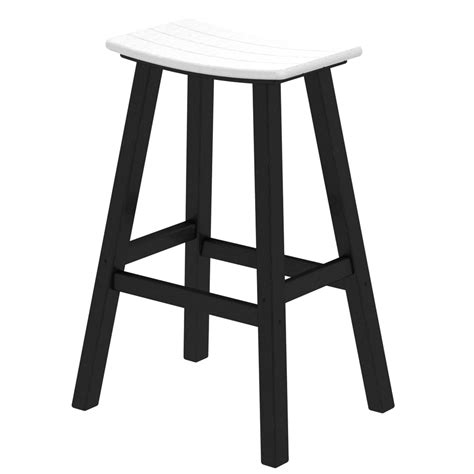 30 Inch Saddle Seat Bar Stools by Polywood 174 Contempo 30 Inch Saddle Bar Stool Pw 2012