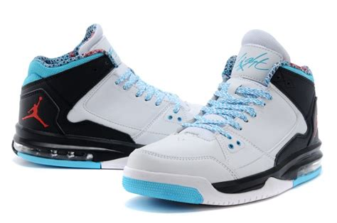 light blue air jordans nike flight origin white light blue black