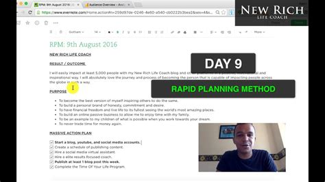 rapid planning method tony robbins rpm day   day
