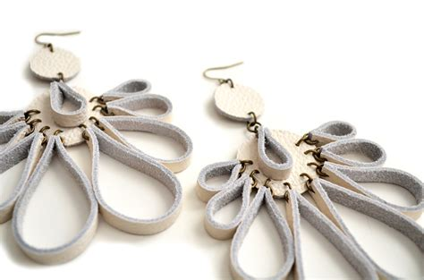 Handmade Leather Earrings - handmade leather earrings boo and boo factory handmade