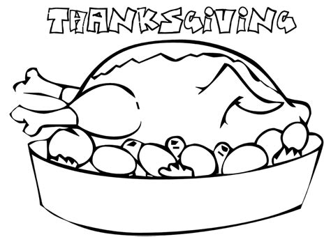 coloring page of thanksgiving dinner turkey dinner coloring pages