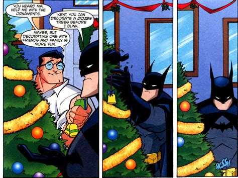 batman decorating christmas tree