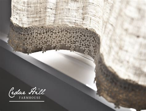 linen and lace curtains the little linen and lace curtain cedar hill farmhouse