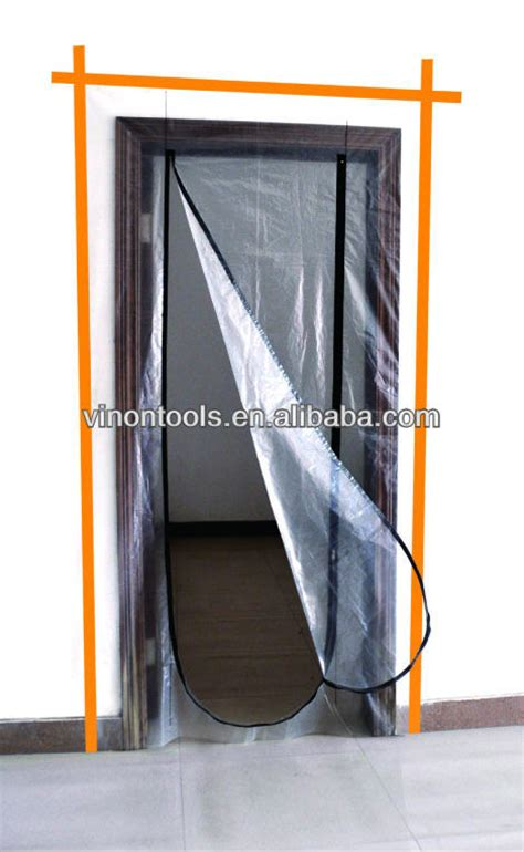 Door Dust Protector by Plastic Zip Door Plastic Door Protector Dust Protection