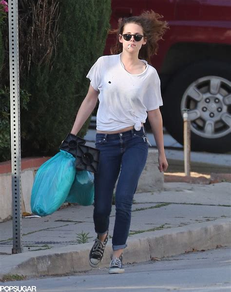 Stewart Has Put The Bottle And The Cigarettes by Kristen Stewart A Cigarette In La Popsugar