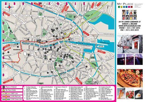 printable map dublin city centre official website myplace dublin hotel and hostel in dublin