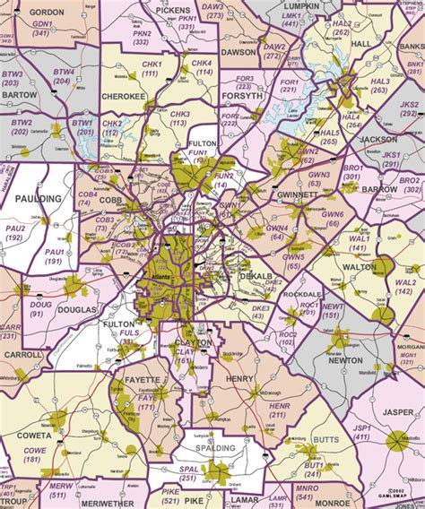 atlanta georgia surrounding area map atlanta map free printable maps