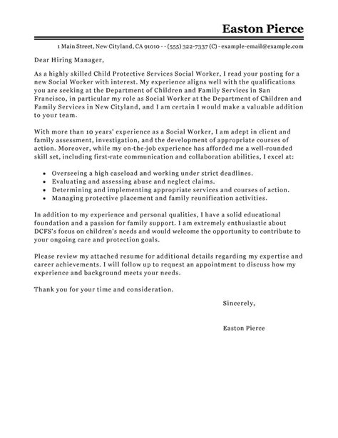 best cover letter examples for resume social work leading
