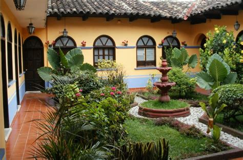 spanish style home plans with courtyard spanish courtyard garden design mexican courtyard design