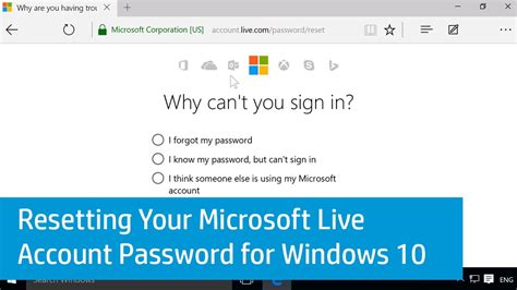 windows live reset password not working resetting your microsoft live account password for windows