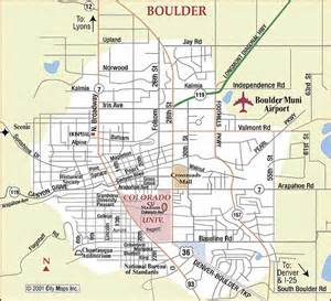 road map of boulder boulder colorado aaccessmaps