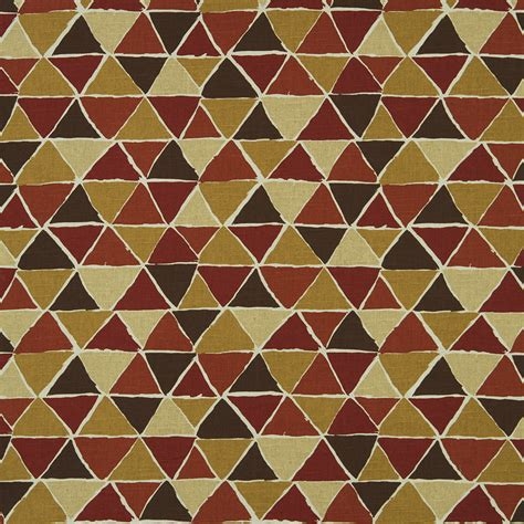 on sale gold geometric cotton upholstery fabric on sale