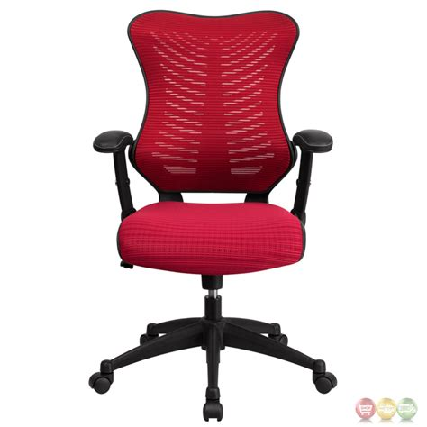 High Back Burgundy Designer Mesh Executive Swivel Office Designer Swivel Chairs