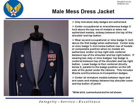 placement of medals on army dress mess uniform mess dress wear guidance