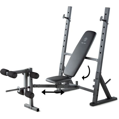 gym bench with weights gold s gym xr 10 1 olympic weight bench ebay