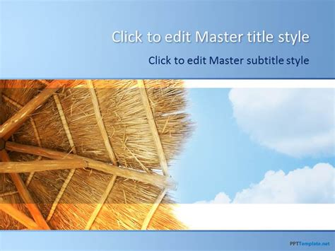 powerpoint vacation themes free beach relax ppt template