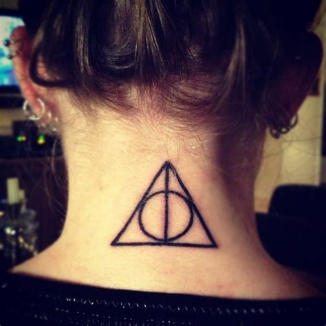 simple nape tattoo 18 hallows tattoos on forearm