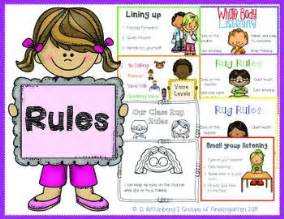 Classroom Benches Class Rules Amp Procedures Posters With Student Rug Rules