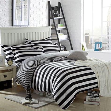 ttmall twin full queen size cotton 4 pieces black white ttmall twin full queen size cotton 4 pieces black white