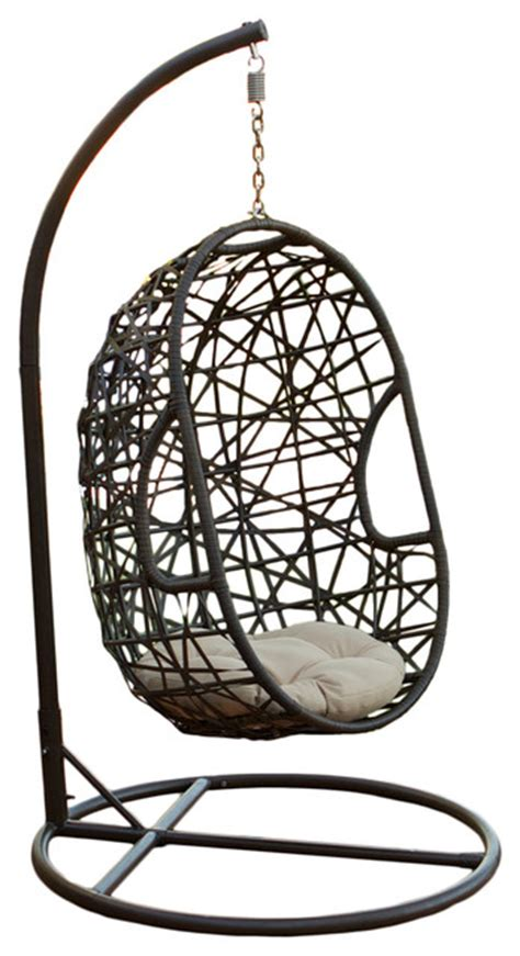 egg swing chair for sale gdfstudio guerneville egg shaped swing chair brown