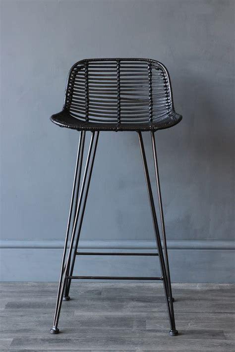 rattan bar stools black black rattan bar stool