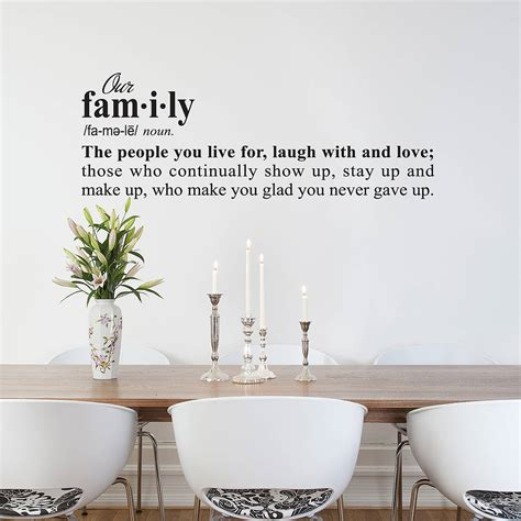 Decoration Definition by Family Definition Wall Sticker Decoration By Snuggledust
