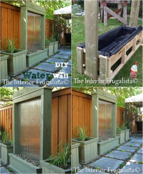 backyard water wall 30 creative and stunning water features to adorn your garden diy crafts