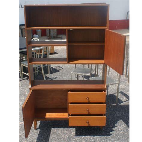 Room Divider Cabinets by Metro Retro Furniture Vintage Walnut Bookcase Display