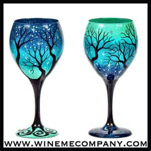 Painted Wine Glasses 25 Best Ideas About Painted Wine Glasses On