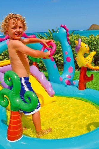 New Kolam Renang Intex Mermaid Kingdon Play Center 57139np intex dinosaur water play center paddling pool with
