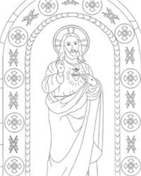 sacred heart coloring page 1000 images about sacred heart immaculate heart on