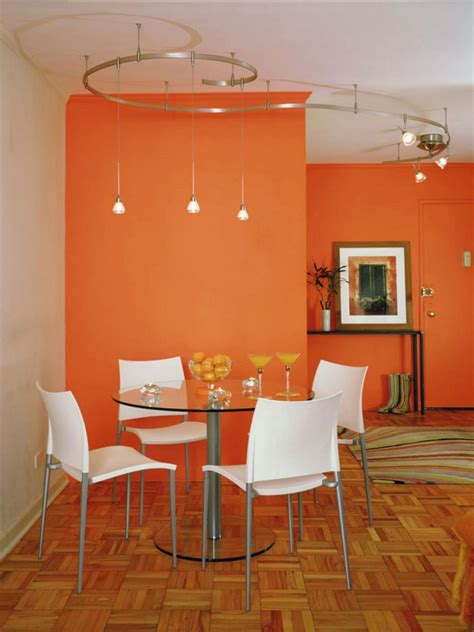 colored wall orange design ideas hgtv