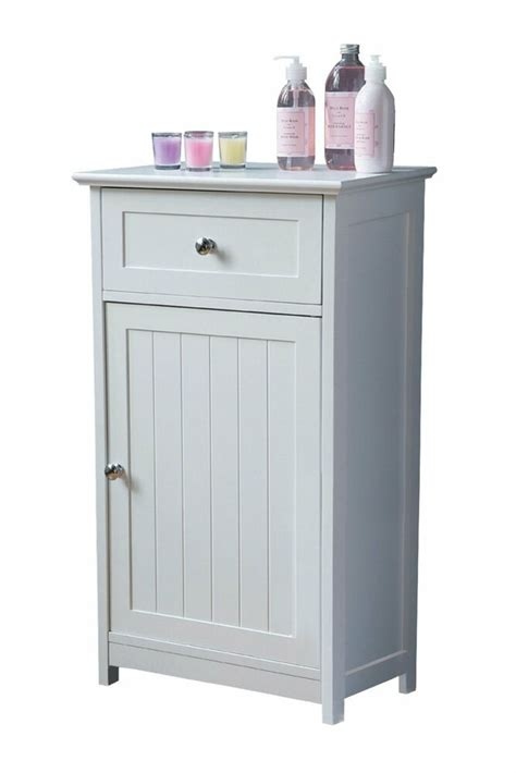 Wooden Bathroom Cupboards by White Wooden Shaker Style Floor Standing Bathroom Cabinet