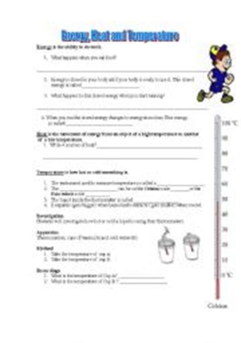 Temperature And Heat Worksheet by Worksheets Heat And Temperature