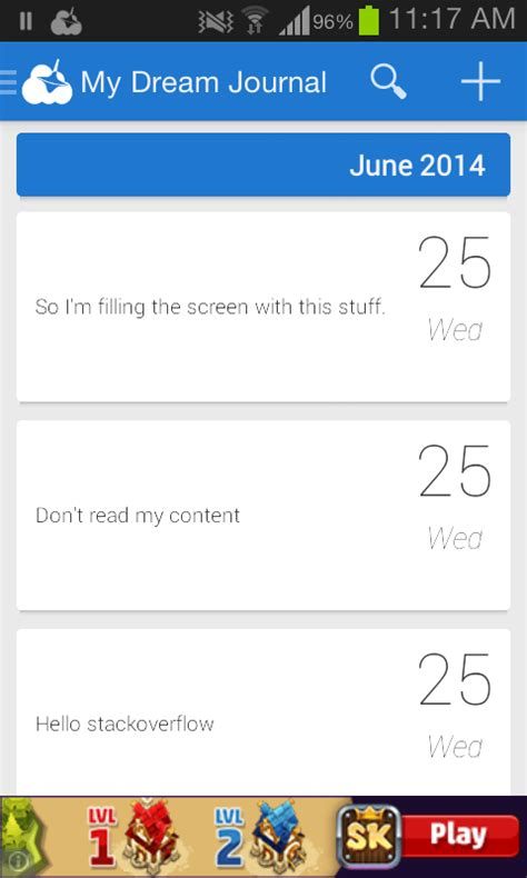 layout meaning in android android floating list view items stack overflow