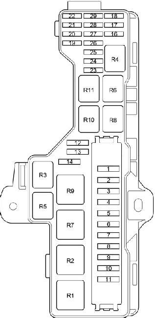 '13-'18 Toyota HiAce (H200) Fuse Diagram