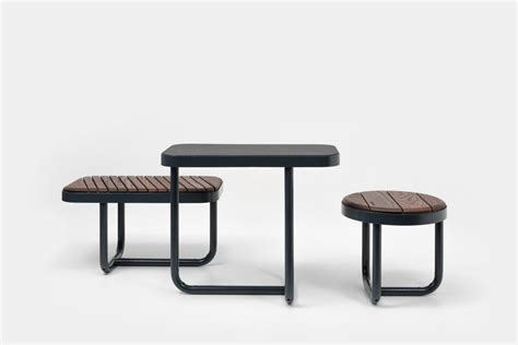 bench brief tiide table rectangle extery urban furniture park