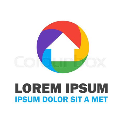 house logo design vector colorful house logo vector logo design concept stock