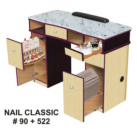 nail bar table station vnt nail supply classic nail station granite top