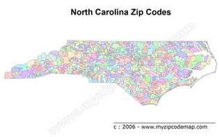 carolina zip code maps free carolina zip