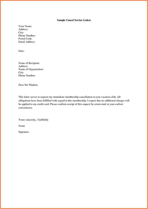 gym membership cancellation letter template samples