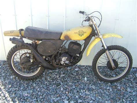 Suzuki Dirtbike Parts Find 1975 Suzuki Tm250m Complete Parts Bike Vintage Mx