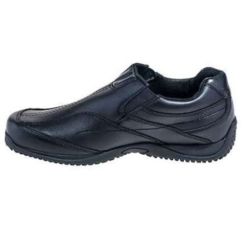 grabbers shoes s black non metallic slip on work