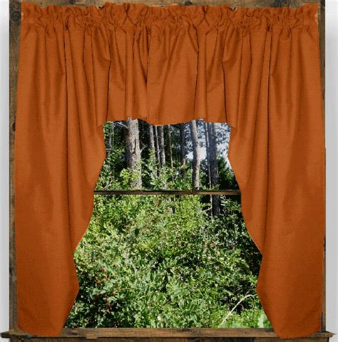 Rust Colored Kitchen Curtains Rust Color Swag Window Valance 45 Quot 74 Quot Wide