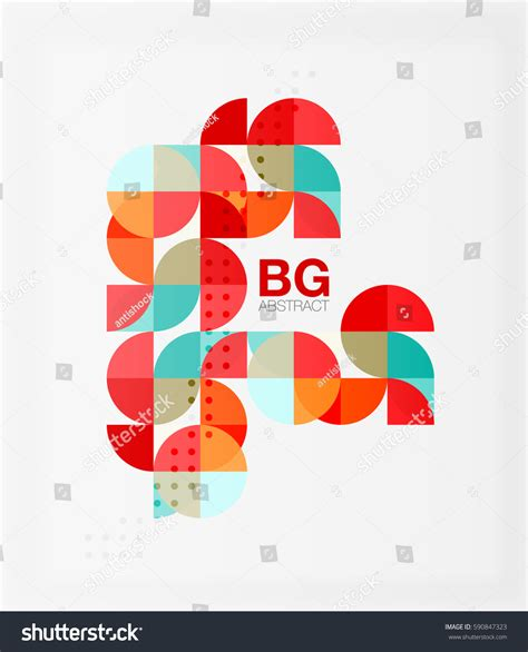 colorful card background design elements free vector in colorful circle elements vector template background stock
