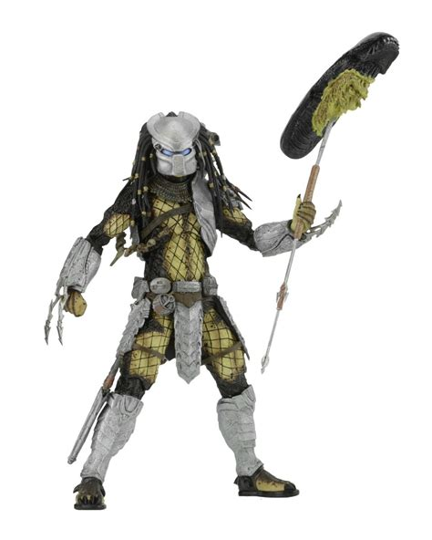 Avp Vs Predator Serpent Predator Neca Figure an elder youngblood and serpent predator walk into